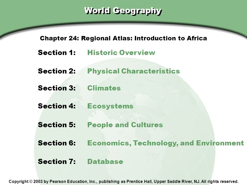 Chapter 24: Regional Atlas: Introduction to Africa