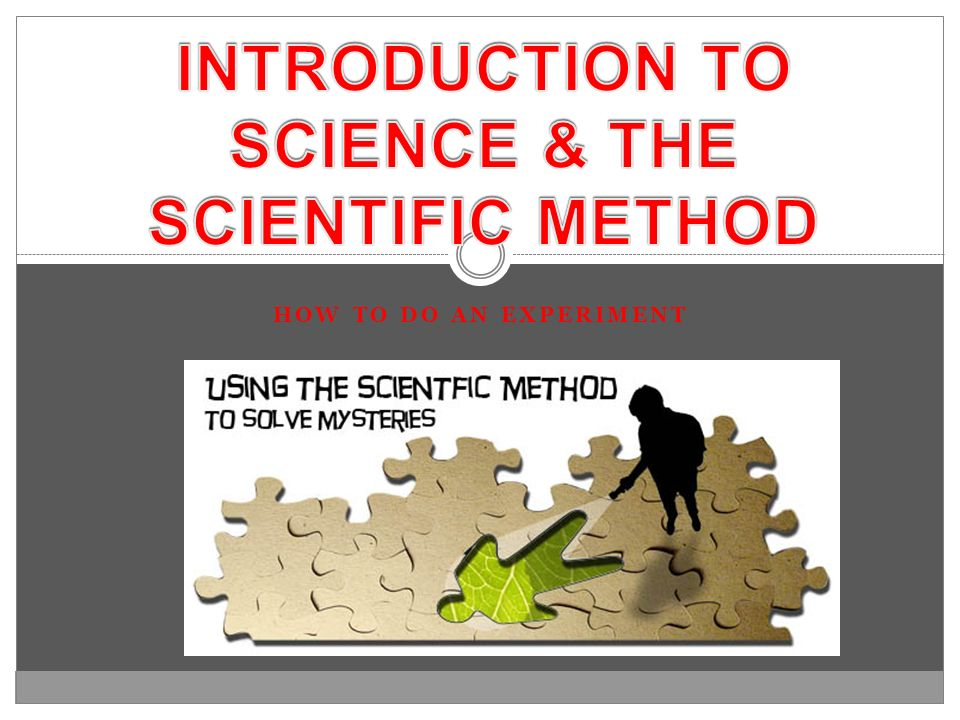 INTRODUCTION TO SCIENCE & THE