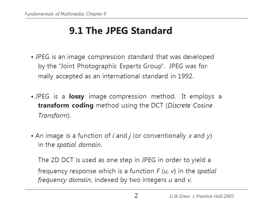 Image Compression Standards Ppt Download Block Diagram Jpeg Is An Standard That Was Developed