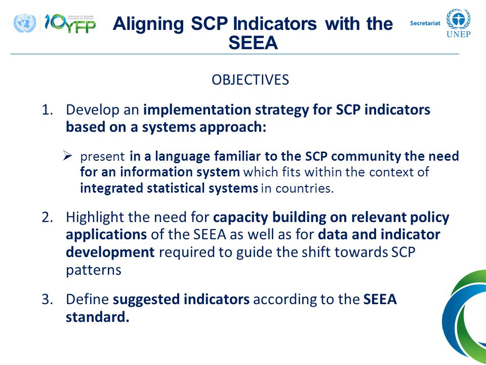 Aligning SCP Indicators with the SEEA