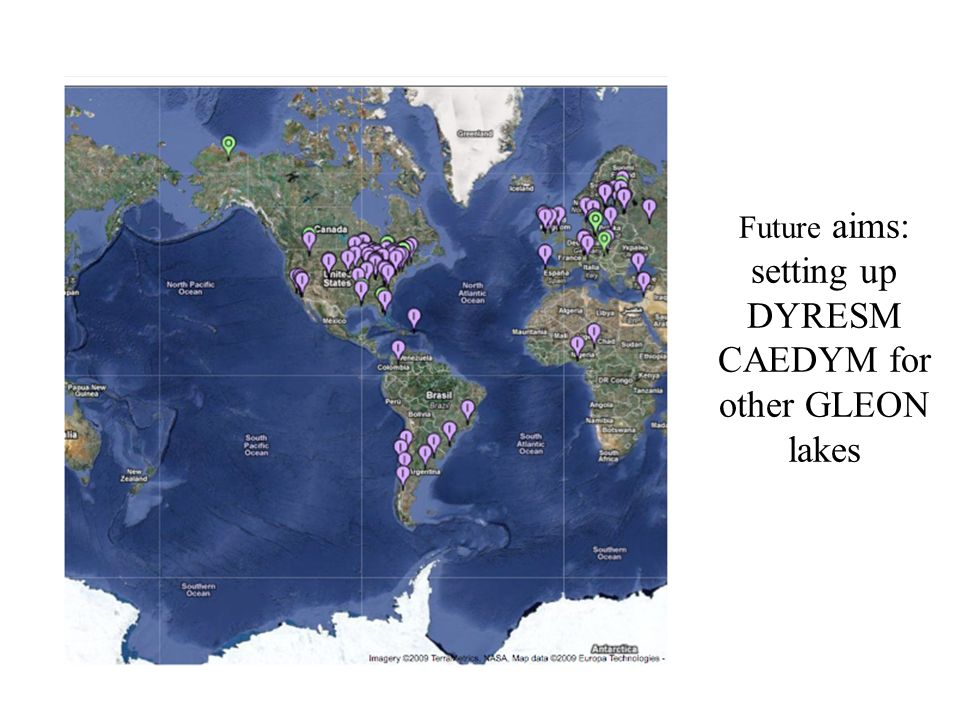 Future aims: setting up DYRESM CAEDYM for other GLEON lakes