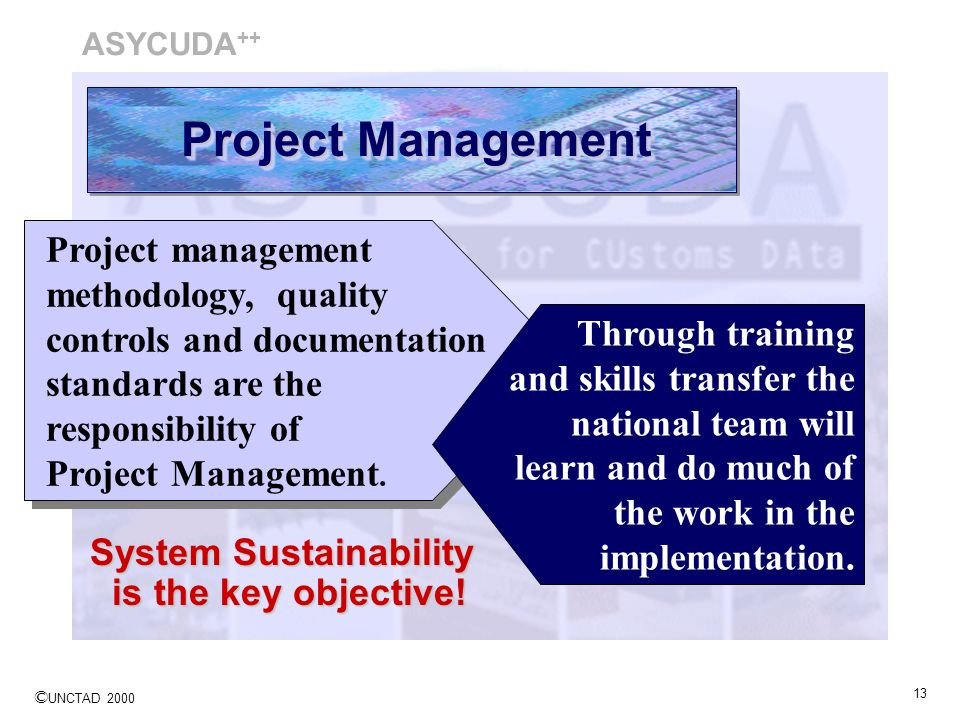 ASYCUDA++ Project Management.