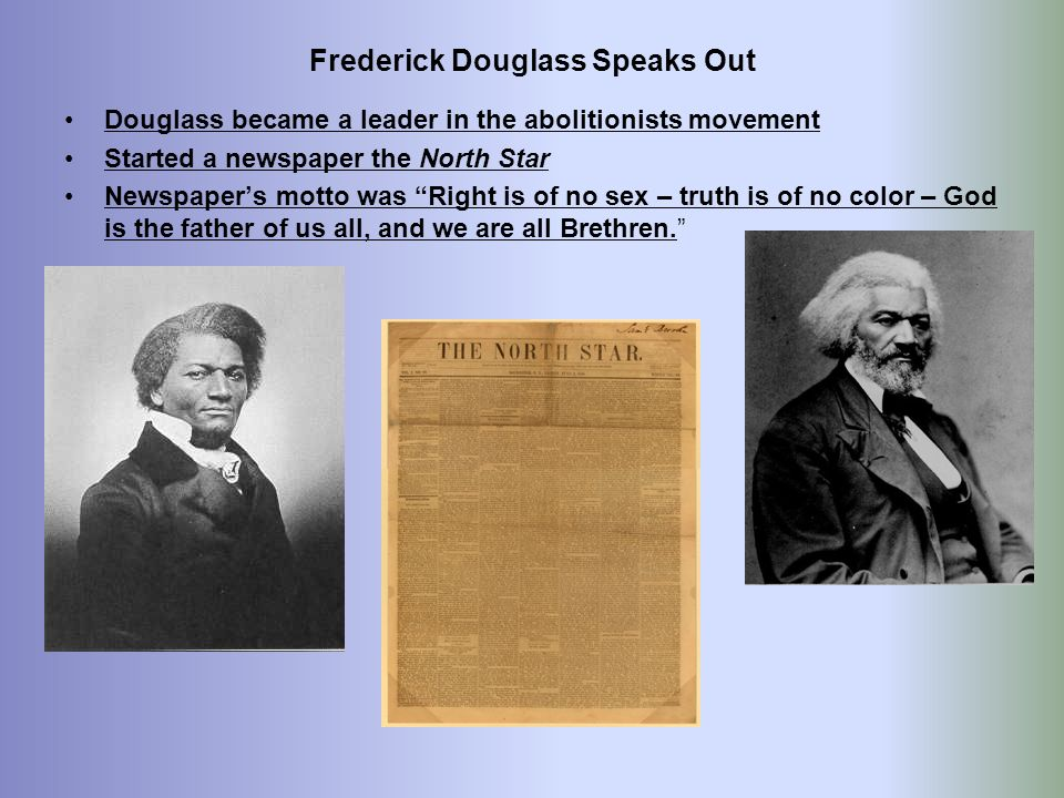 Frederick Douglass Speaks Out