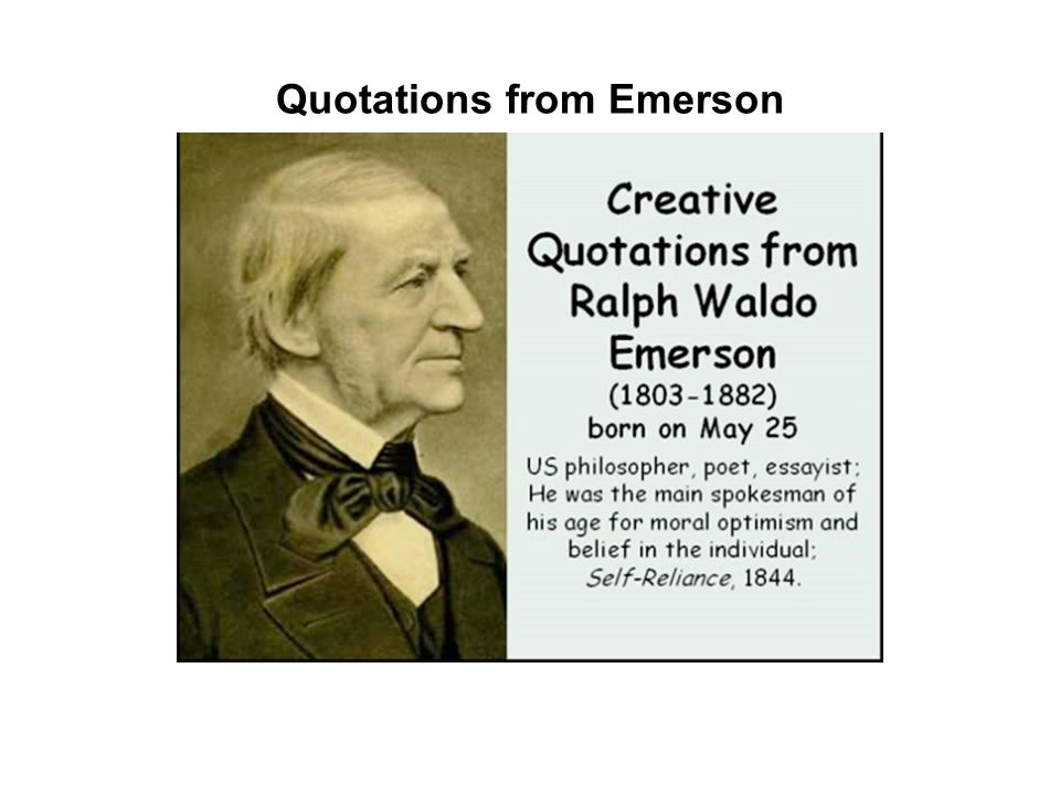 Quotations from Emerson
