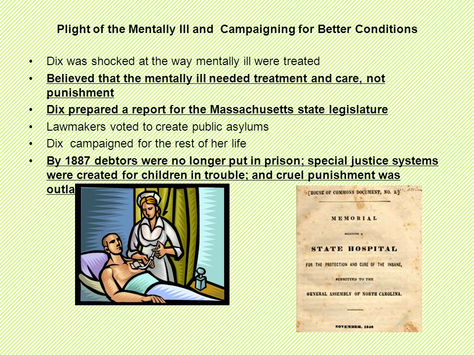 Plight of the Mentally Ill and Campaigning for Better Conditions