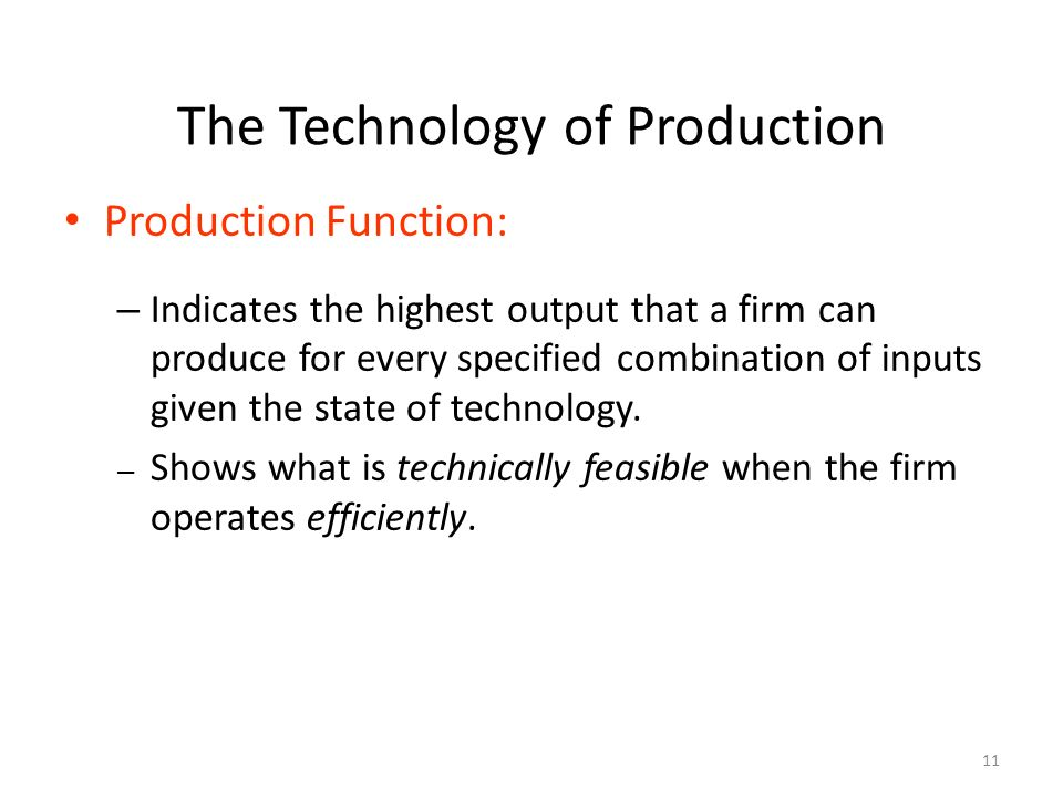 production functions indicate the relationship between