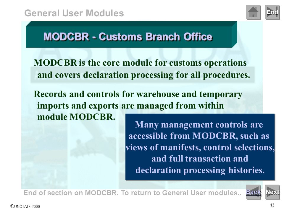 MODCBR - Customs Branch Office