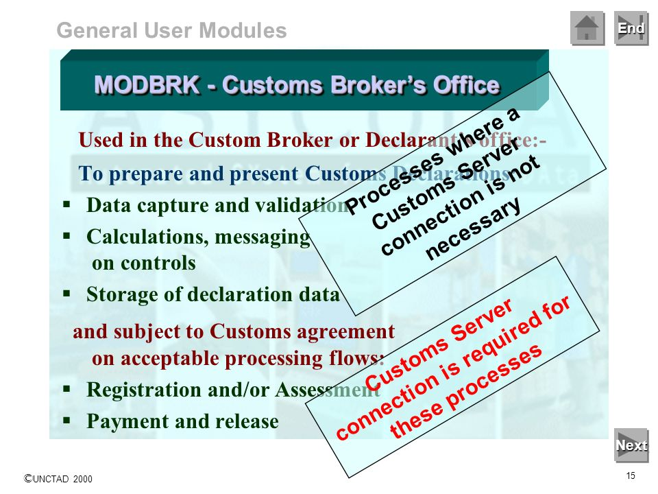 MODBRK - Customs Broker's Office
