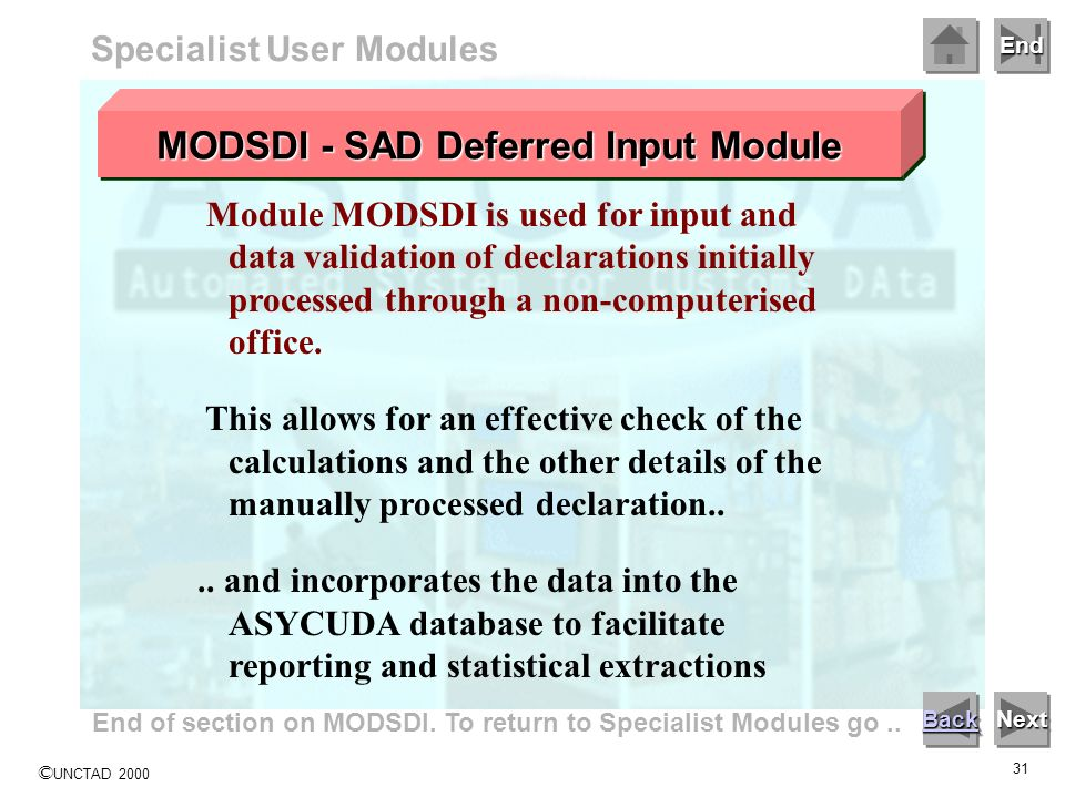 MODSDI - SAD Deferred Input Module