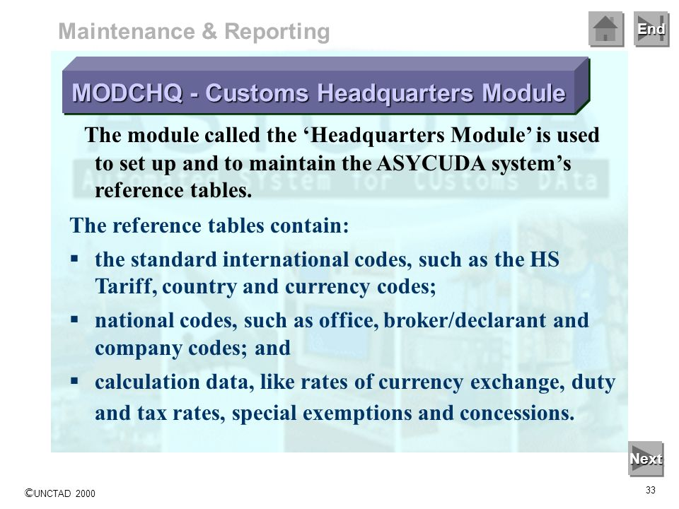 MODCHQ - Customs Headquarters Module
