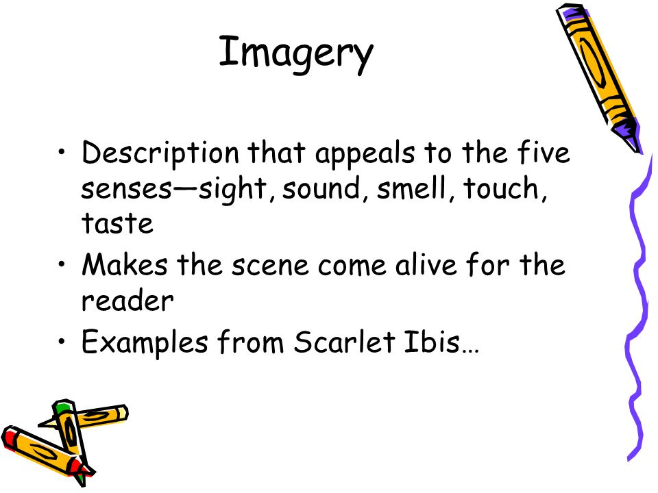 imagery in the scarlet ibis