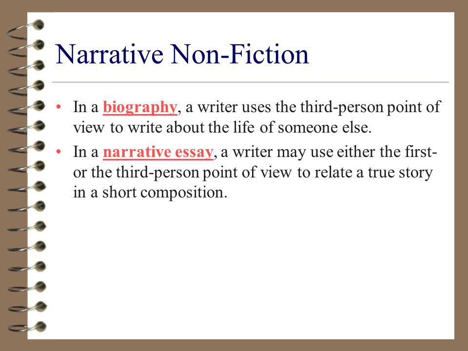 fiction vs non fiction essay Persuasive essay the freedom of lying: fiction vs non-fiction by knry the derivation of the word fiction originates from the latin word ficturn, meaning to create this etymology of the word has affected our conventional conjecture towards what one would deem real and unreal, as far as the articulation in which commonplace writing.