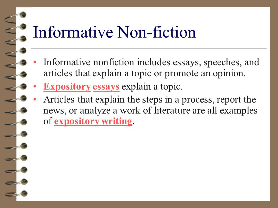 non fiction essays