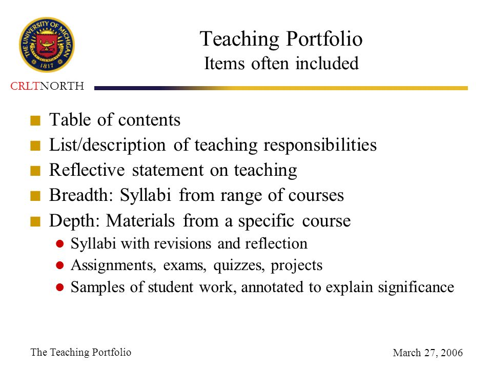The Teaching Portfolio - ppt video online download