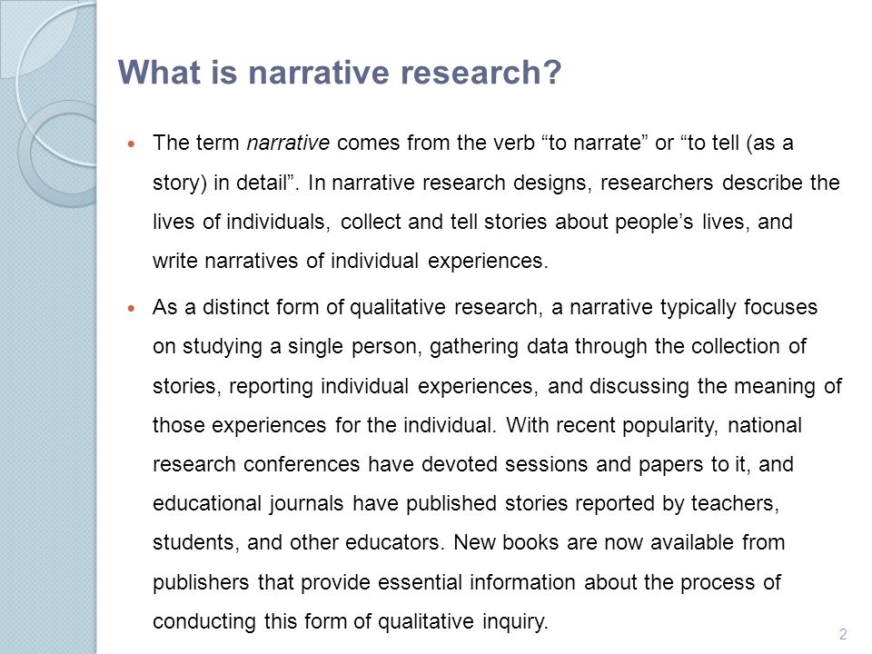 what to write a narrative about