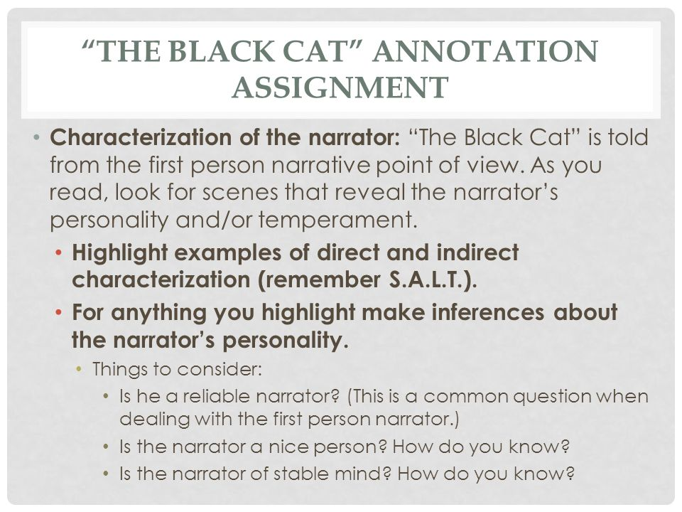 the black cat point of view