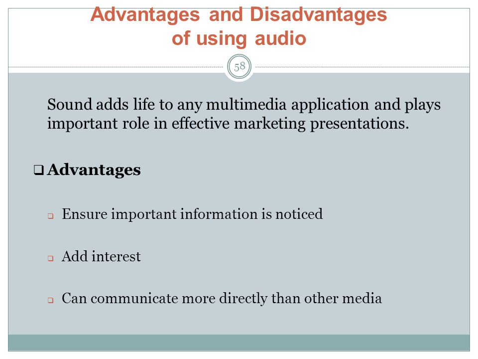 disadvantages of multimedia communication