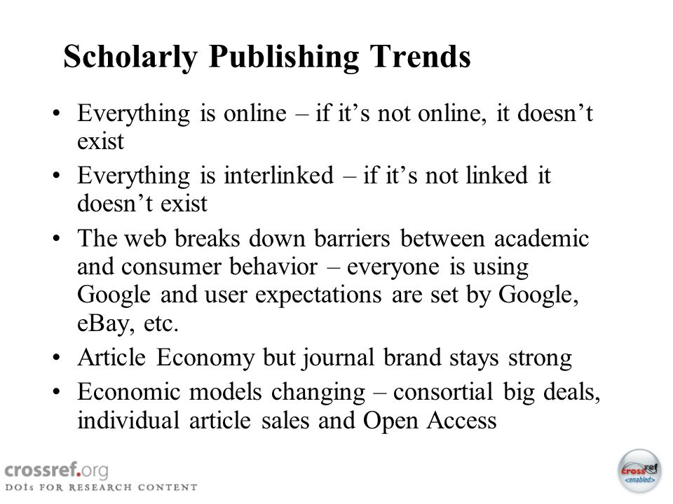 Scholarly Publishing Trends