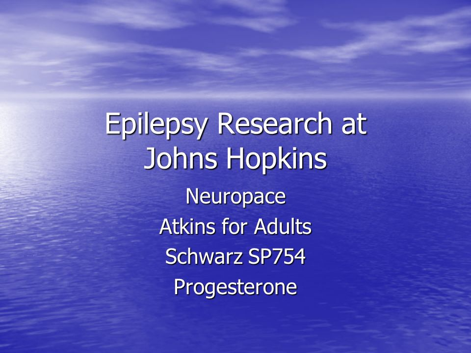 Epilepsy Research at Johns Hopkins