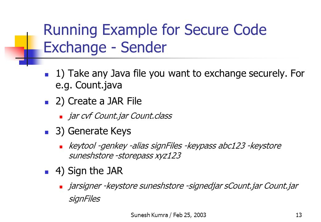 Security in Java Sunesh Kumra S - ppt download