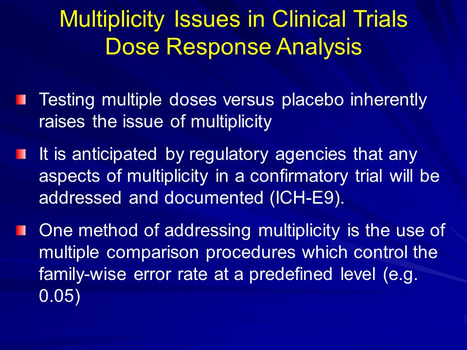 Multiplicity Issues in Clinical Trials Dose Response Analysis
