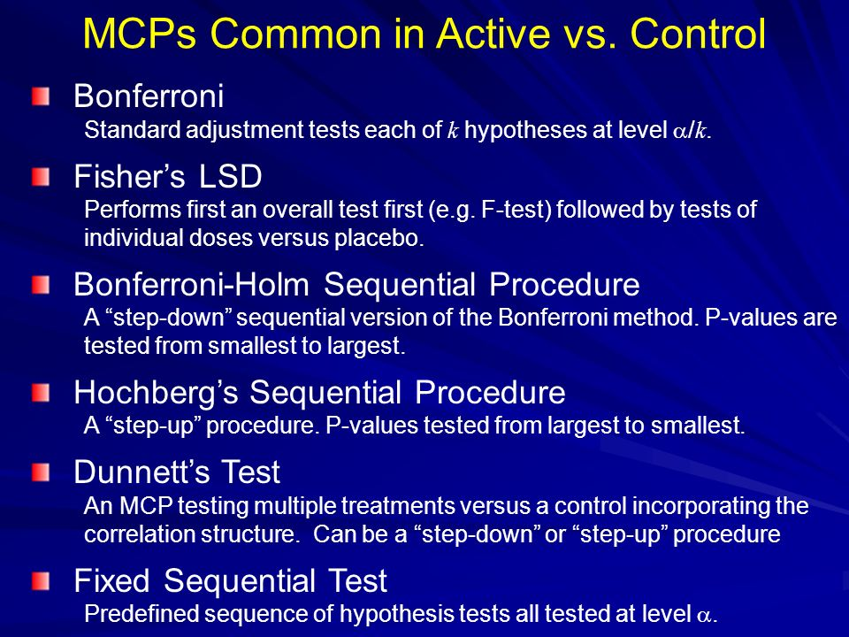 MCPs Common in Active vs. Control