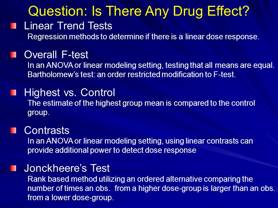 Question: Is There Any Drug Effect