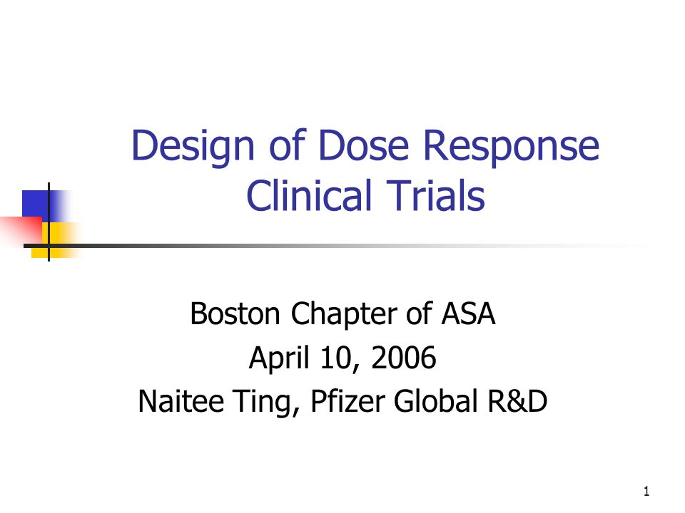 Design of Dose Response Clinical Trials