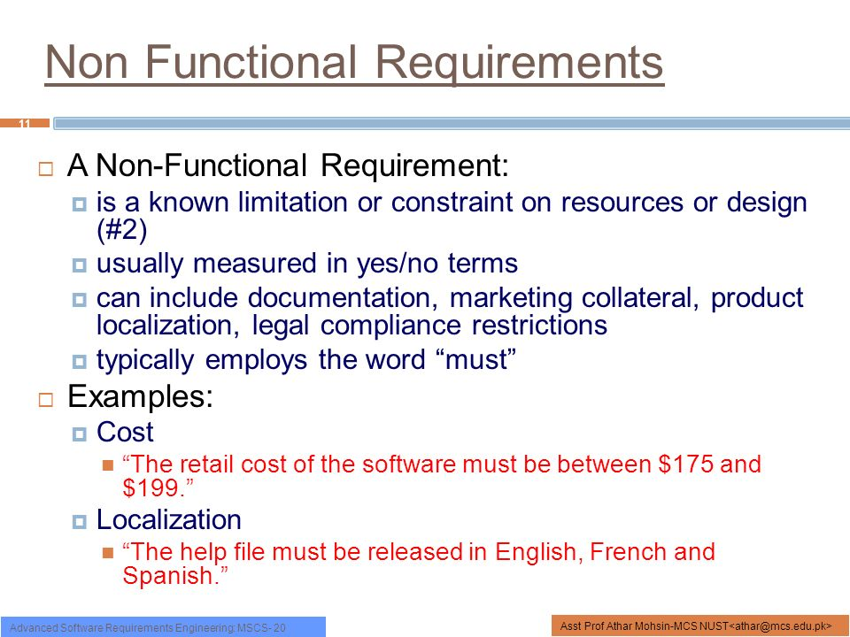 Functional Nonfunctional Requirements Ppt Video Online Download - Functional requirements examples
