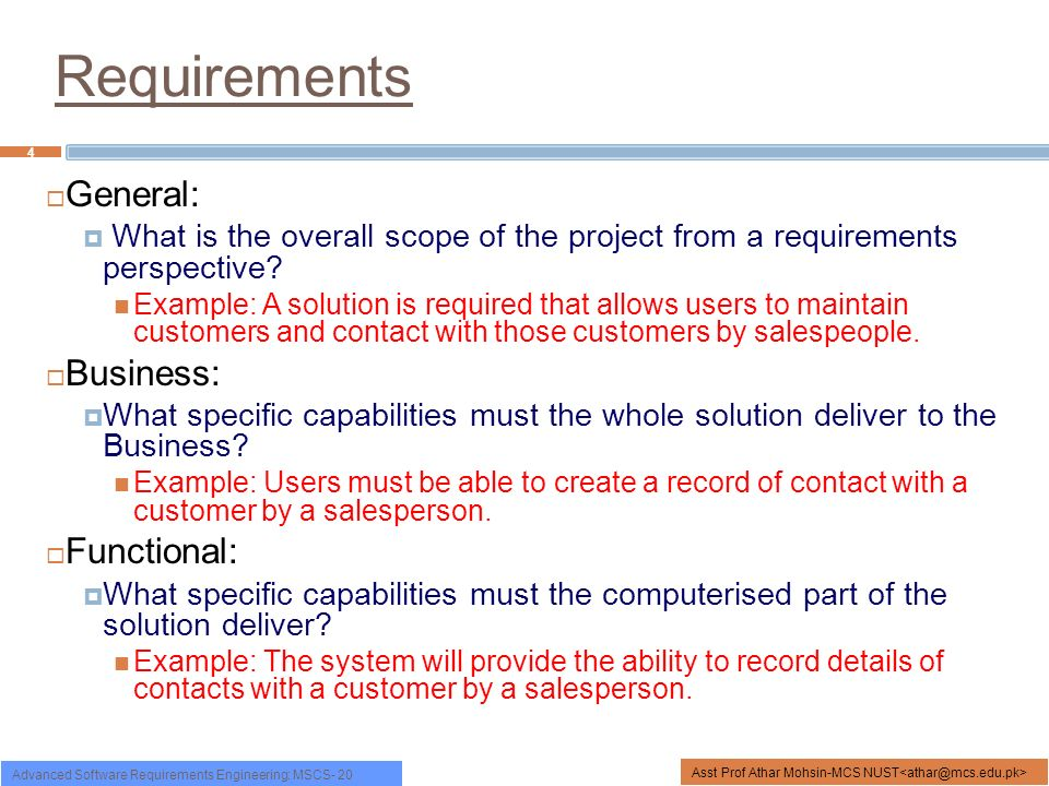 Functional non functional requirements ppt video online download 4 requirements general business accmission Image collections