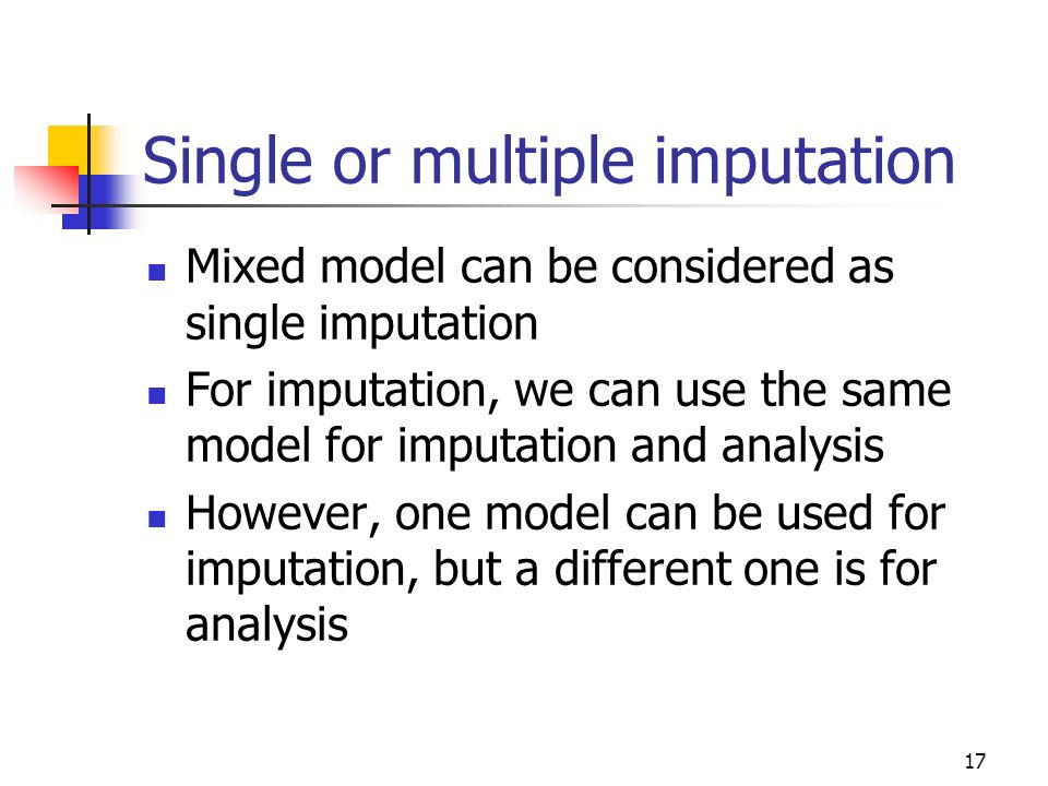 Single or multiple imputation