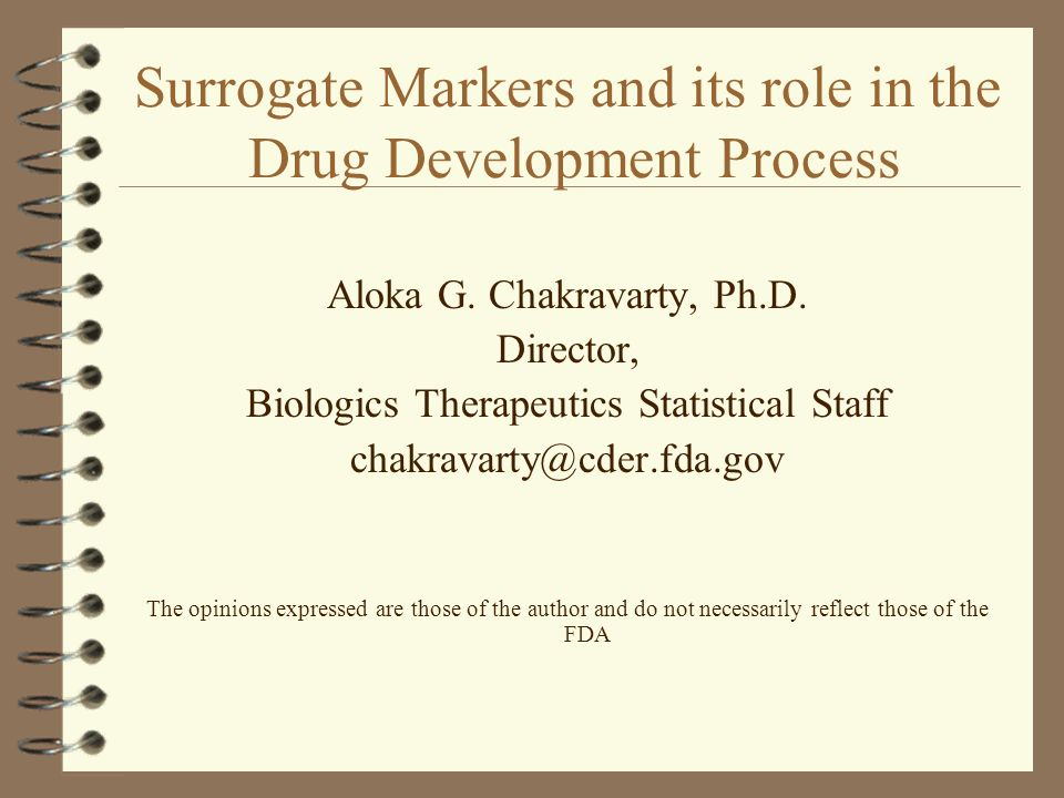 Surrogate Markers and its role in the Drug Development Process