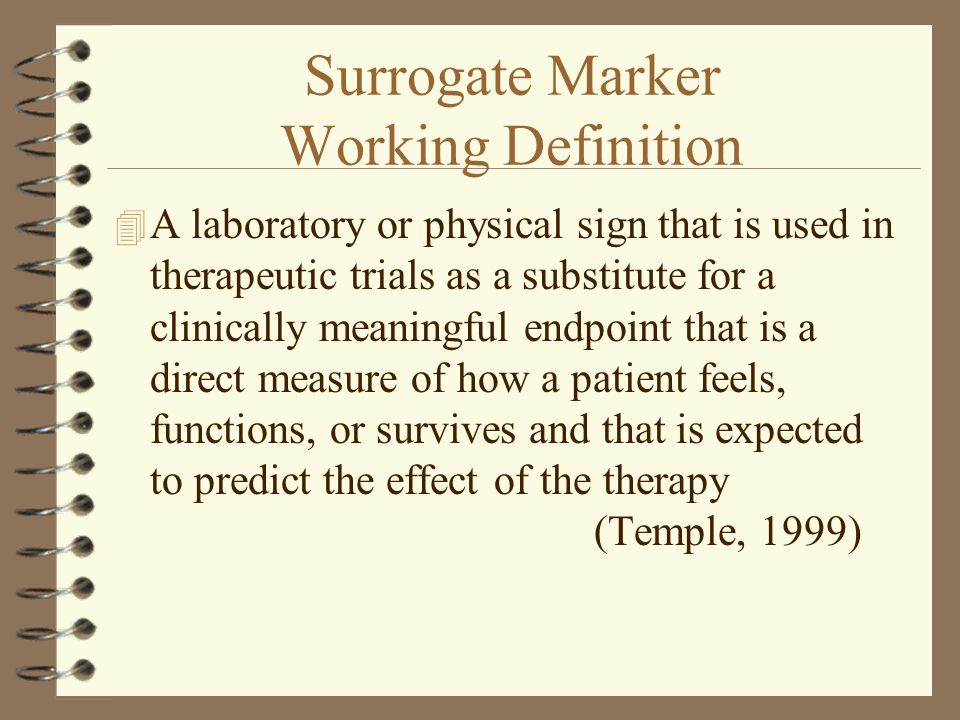 Surrogate Marker Working Definition