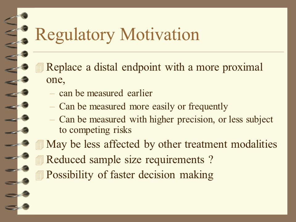 Regulatory Motivation