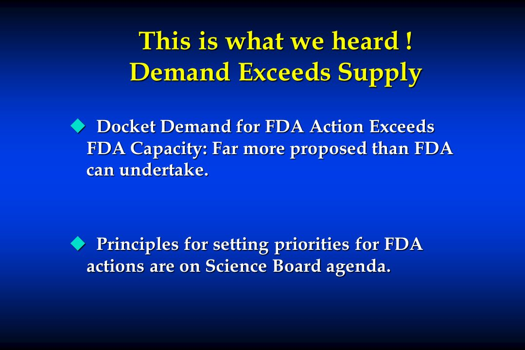 This is what we heard ! Demand Exceeds Supply