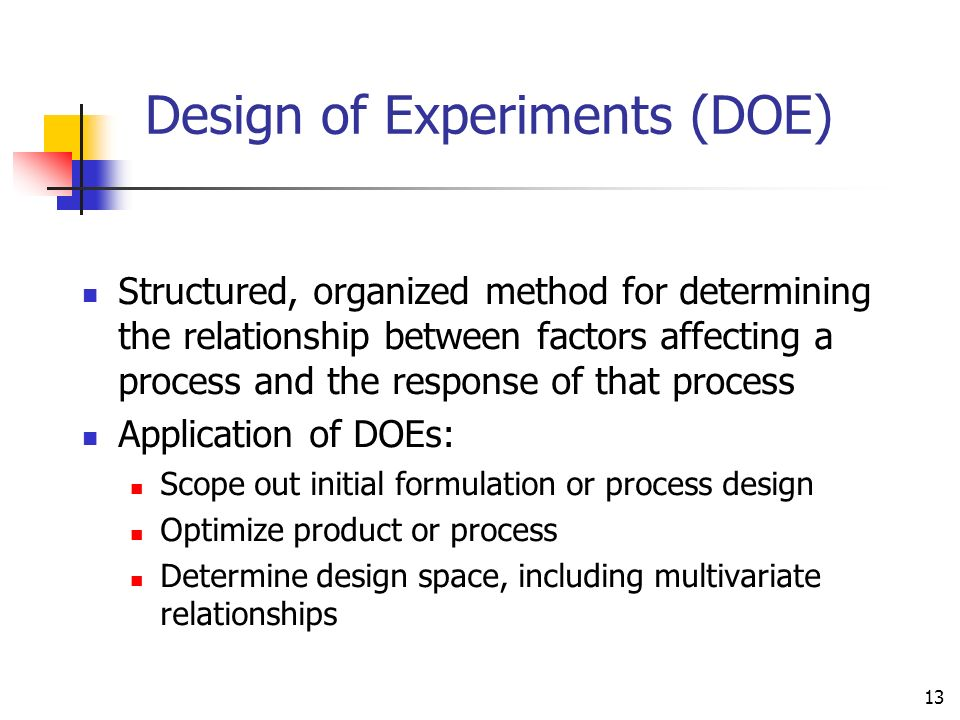 Design of Experiments (DOE)