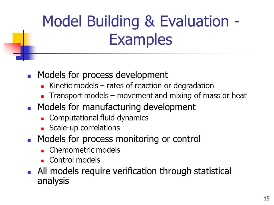 Model Building & Evaluation - Examples