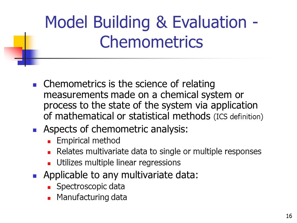 Model Building & Evaluation - Chemometrics