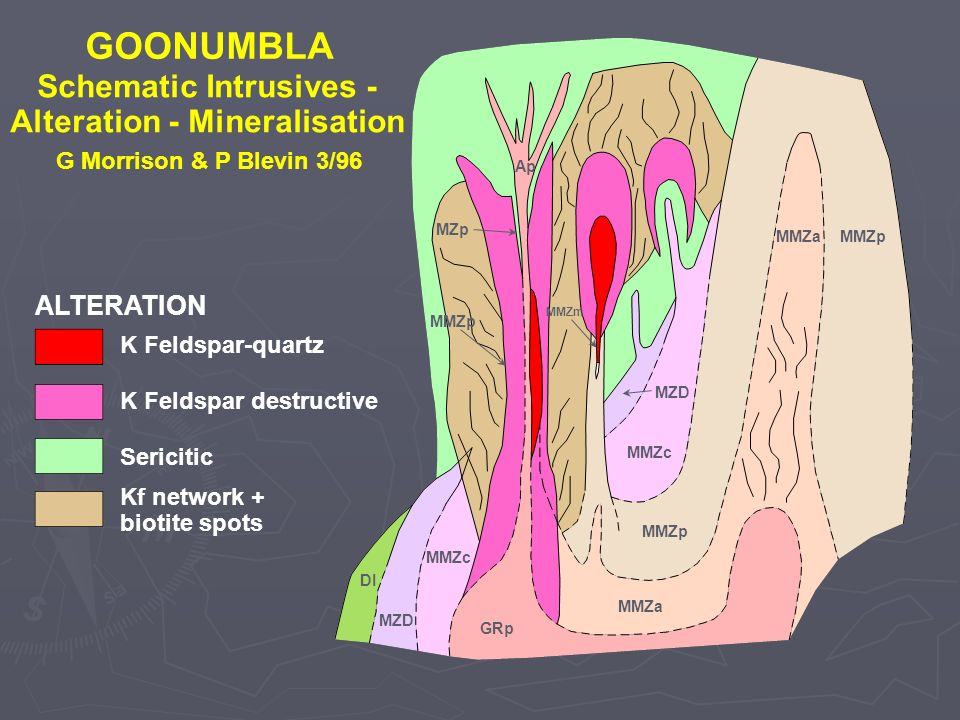 Schematic Intrusives - Alteration - Mineralisation