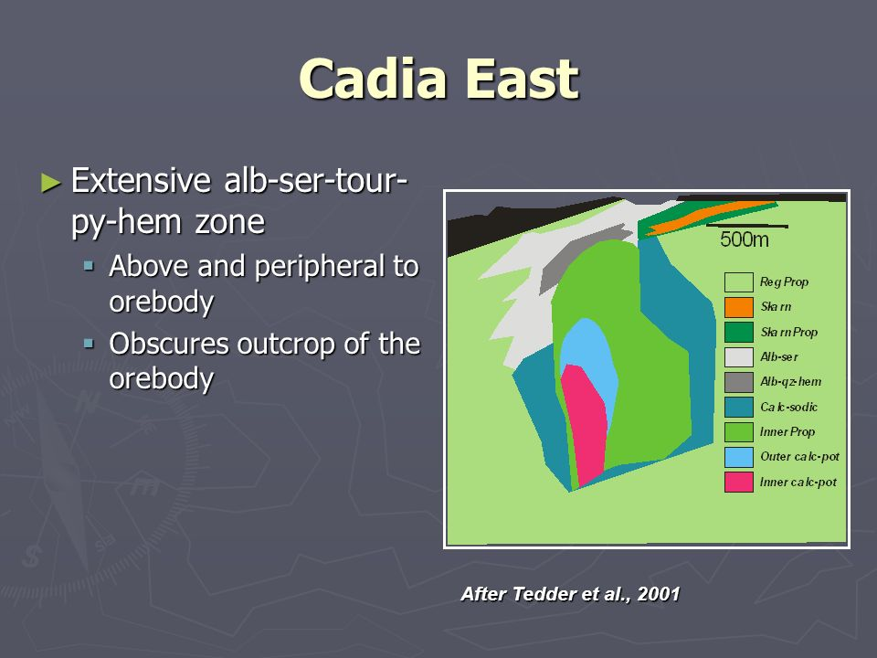 Cadia East Extensive alb-ser-tour-py-hem zone
