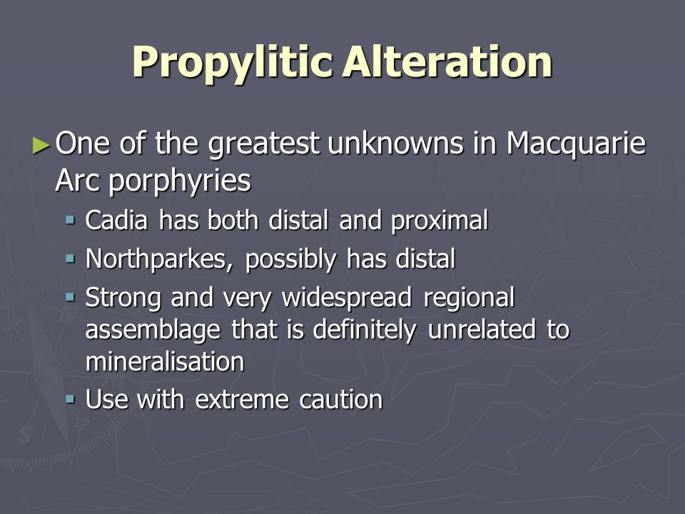 Propylitic Alteration