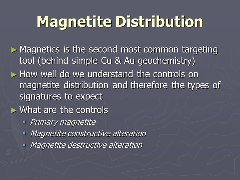 Magnetite Distribution