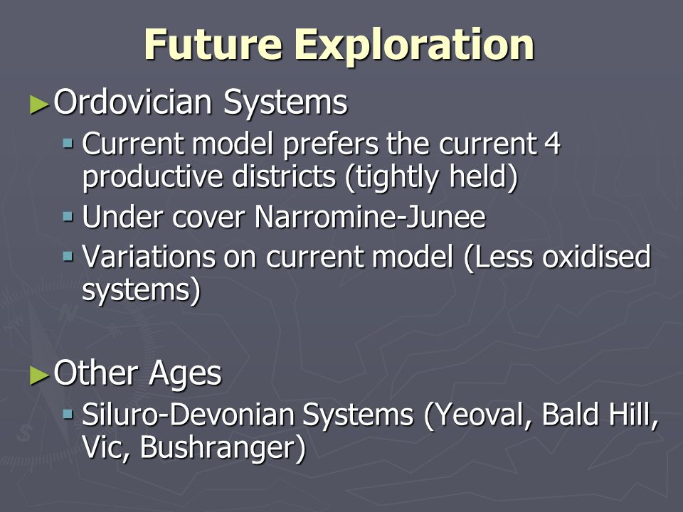 Future Exploration Ordovician Systems Other Ages