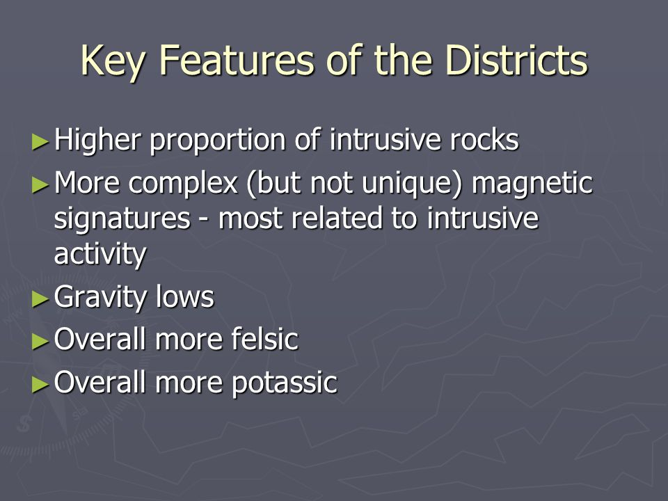 Key Features of the Districts