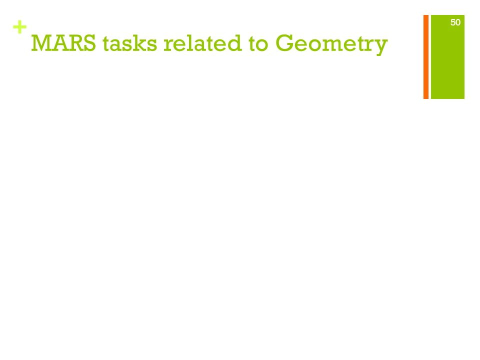 MARS tasks related to Geometry