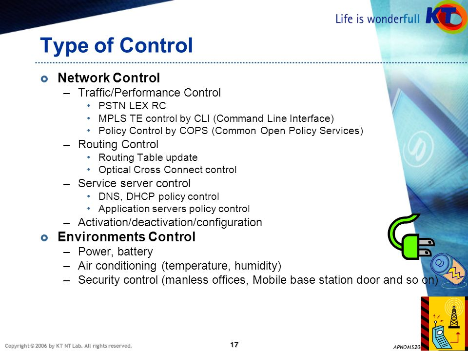 Type of Control Network Control Environments Control