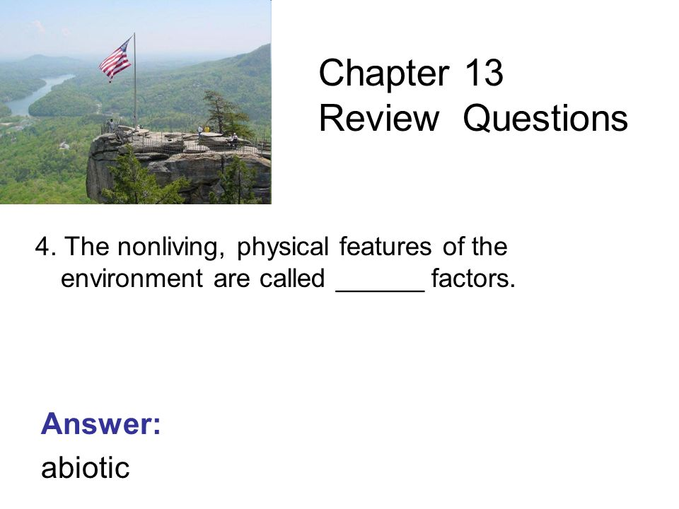 6th Grade Science Chapter 13 The Nonliving Environment