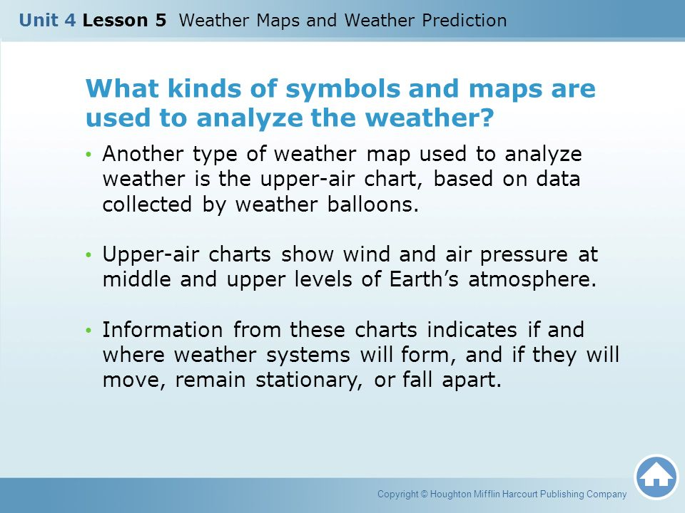 Unit 4 Lesson 5 Weather Maps And Weather Prediction Ppt Download