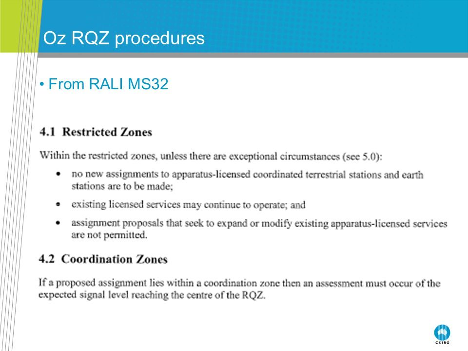 Oz RQZ procedures From RALI MS32