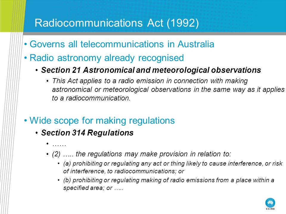 Radiocommunications Act (1992)